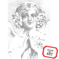Cling Mount Angel Rubber Stamp