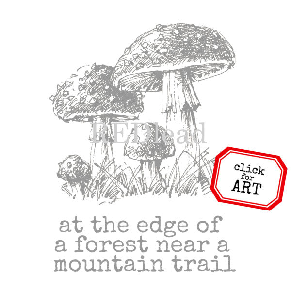 At the Edge of the Forest Mushrooms Stamp