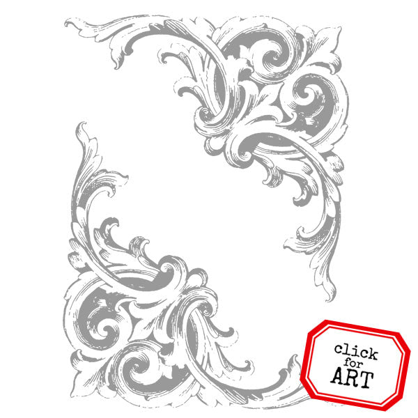 Baroque Corners Rubber Stamp