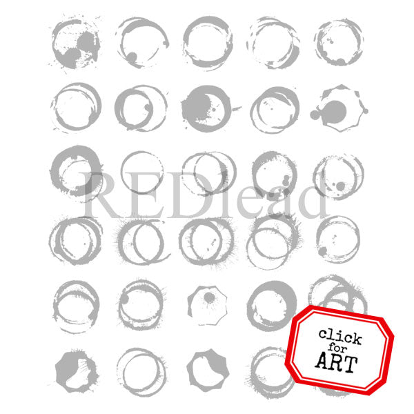 Circles of Ink Rubber Stamp Save 20%