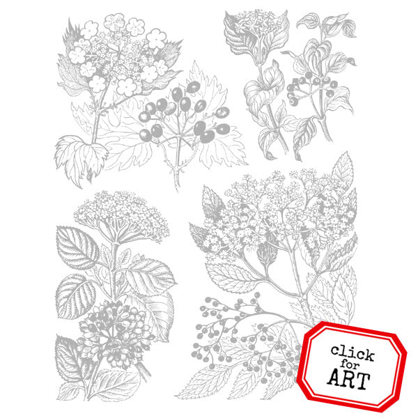 Fall Foliage Rubber Stamp