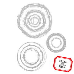 Spirit Circles Rubber Stamp
