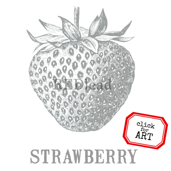 Strawberry Rubber Stamp