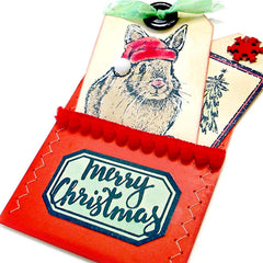 Santa Bunny Rubber Stamp SOLD OUT