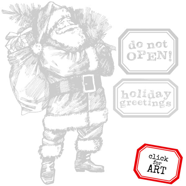 Holiday Greetings from Santa Rubber Stamp Save 20%