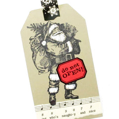 Holiday Greetings from Santa Rubber Stamp