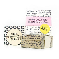She Makes Art Rubber Stamp Save 20%
