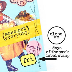 Days of the Week Little Label Rubber Stamp