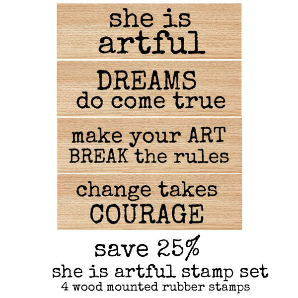 She is Artful Wood Mounted Stamp Set Save 25%