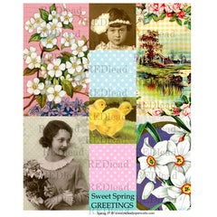 Collage Sheet Spring 37