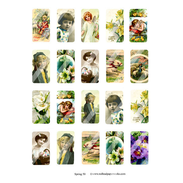Spring 50 Domino Collage Sheet