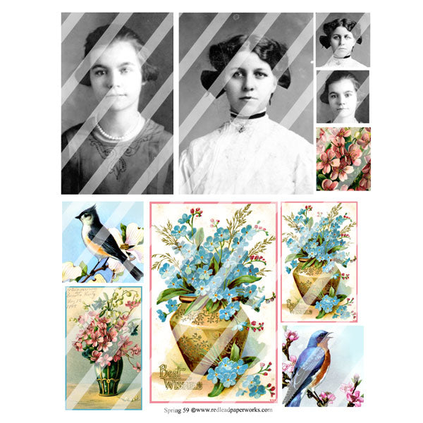Spring 59 Collage Sheet