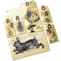 Garden Rabbit Rubber Stamp