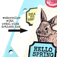 Cute Easter Bunny Cling Mount Rubber Stamp