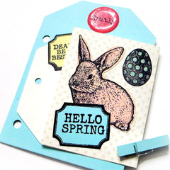 Easter Bunny Cling Mount Rubber Stamp