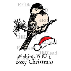 Wishing You a Cozy Christmas Rubber Stamp