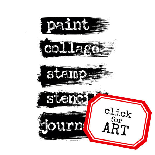 Art Journal Rubber Stamp Paint Collage Stamp Stencil Journal