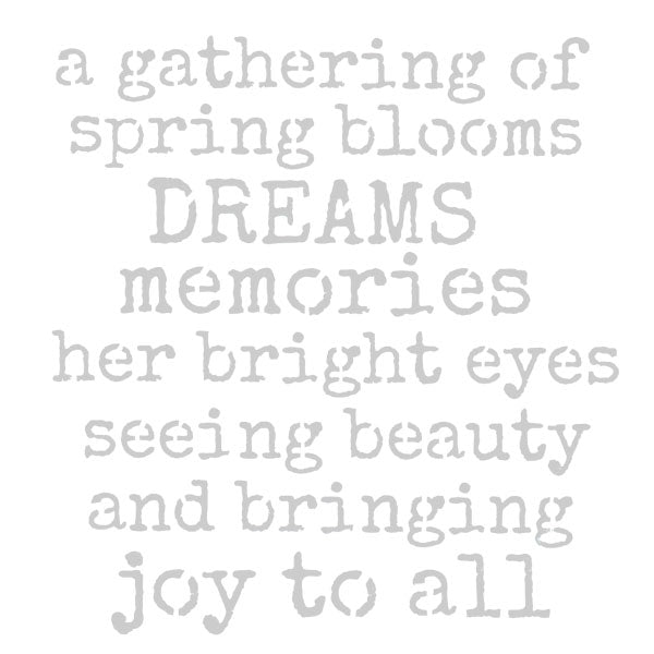 A Gathering of Spring Blooms 6 x 6 Stencil Save 30%