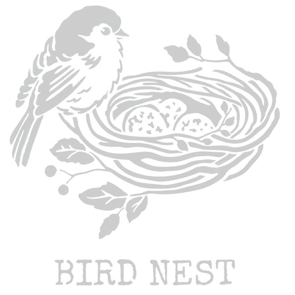 Bird Nest Art Stencil 6 x 6