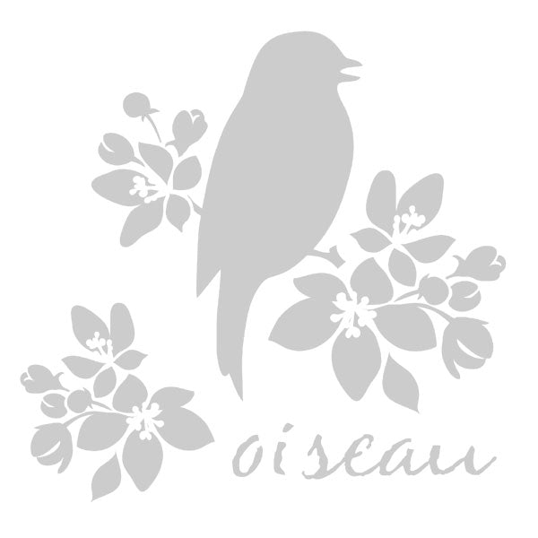 Oiseau Bird Art Stencil 6 x 6