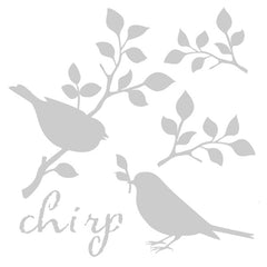 Chirp Bird Art Stencil 6 x 6