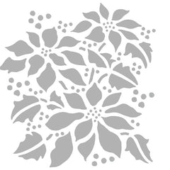 "Poinsettia 6"" x 6"" Art Stencil"