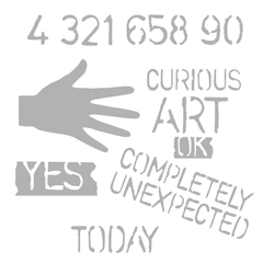 "Art Stencil - Completely Unexpected - 6"" x 6"""