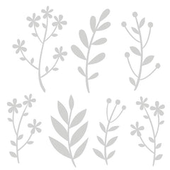 Flower Doodles Art Stencil 6 x 6