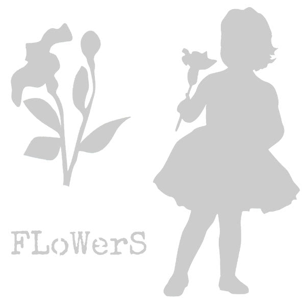 Flower Girl Art Stencil 6 x 6