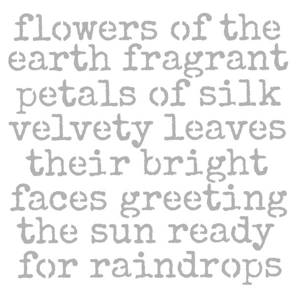 "Flowers of the Earth Stencil 6"" x 6"""