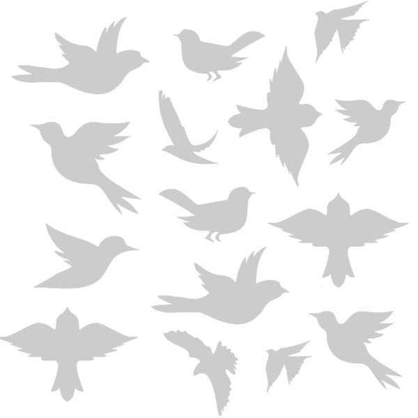 Flying Birds Stencil 6 x 6