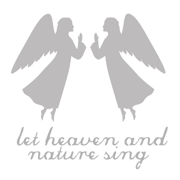 "Let Heaven and Nature Sing 6"" x 6"" Art Stencil SAVE 50%"