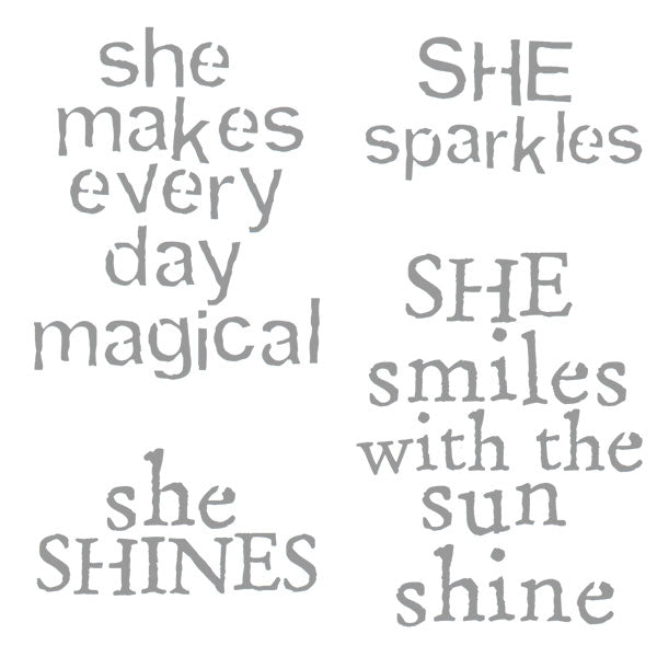 "She Makes Every Day Magical 6"" x 6"" Stencil"