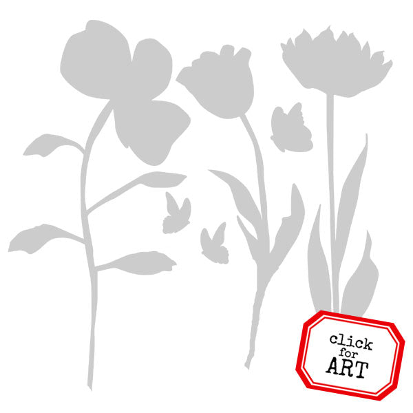 Tuesday Flowers Stencil 6 x  6 Save 25%