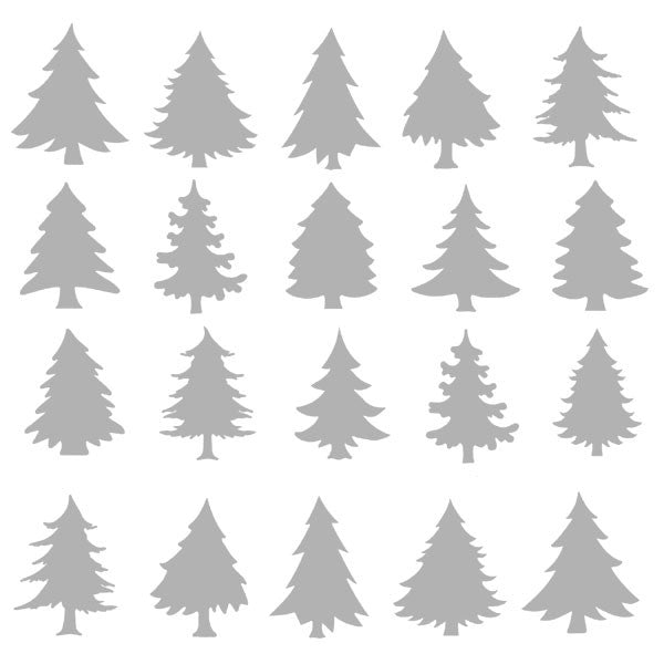 "6"" x 6"" Art Stencil Winter Evergreen Trees Save 25%"