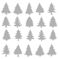 "6"" x 6"" Art Stencil Winter Evergreen Trees"