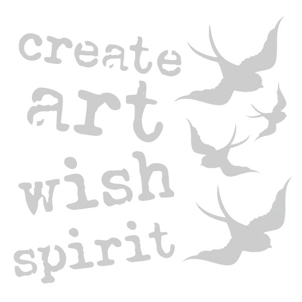 "Create Art Wish Spirit Stencil 6"" x 6"""