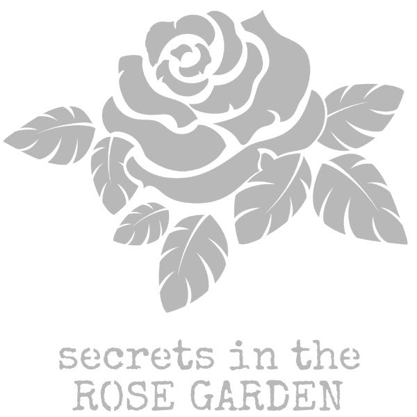 "Secrets in the Rose Garden Stencil 6"" x 6"""