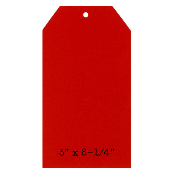 6 True Red Paper Cardstock Tags