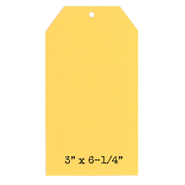6 Buttercup Yellow Paper Cardstock Tags
