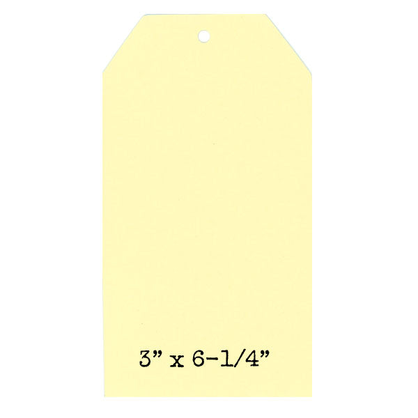 6 Sunshine Yellow Paper Cardstock Tags