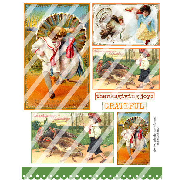 Thanksgiving Collage Sheets