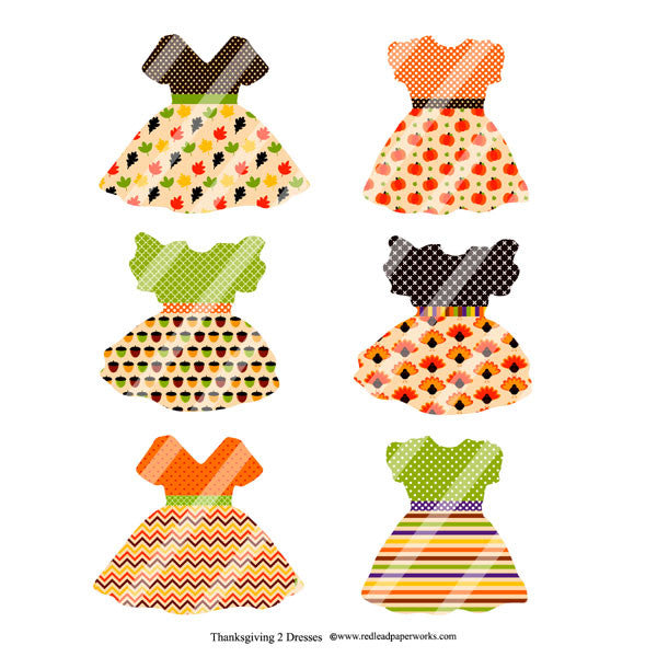 Thanksgiving 2 Collage Sheet Thanksgiving Dresses