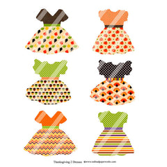 Thanksgiving Dresses 2 Collage Sheet