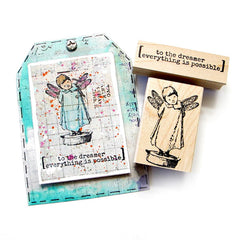 To The Dreamer Wood Mount Rubber Stamp