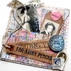 far away places art journal page