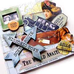 Vintage Elements 207 Travel Collage Sheet