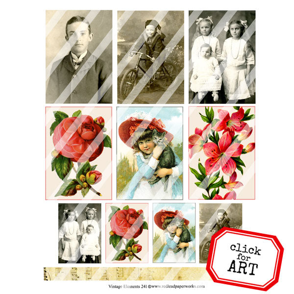 Vintage Elements 241 Collage Sheet