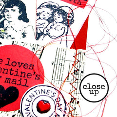 stitched valentine rubber stamped tags