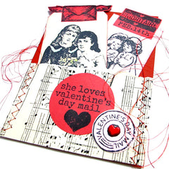 Valentine Pockets made with Cling Mount Rubber Stamps